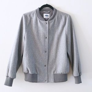 Old Navy | Wool blend Gray Bomber Jacket NWOT